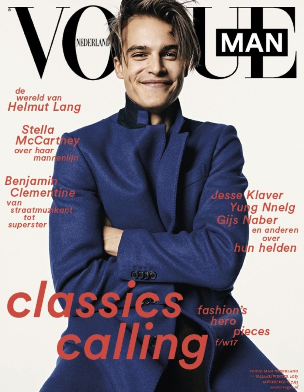 94c01c53d Male Fashion Trends: Parker van Noord en portada de Vogue Man Netherlands