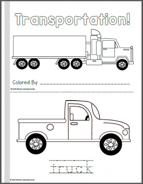 coloring pages for transportation units - photo#38