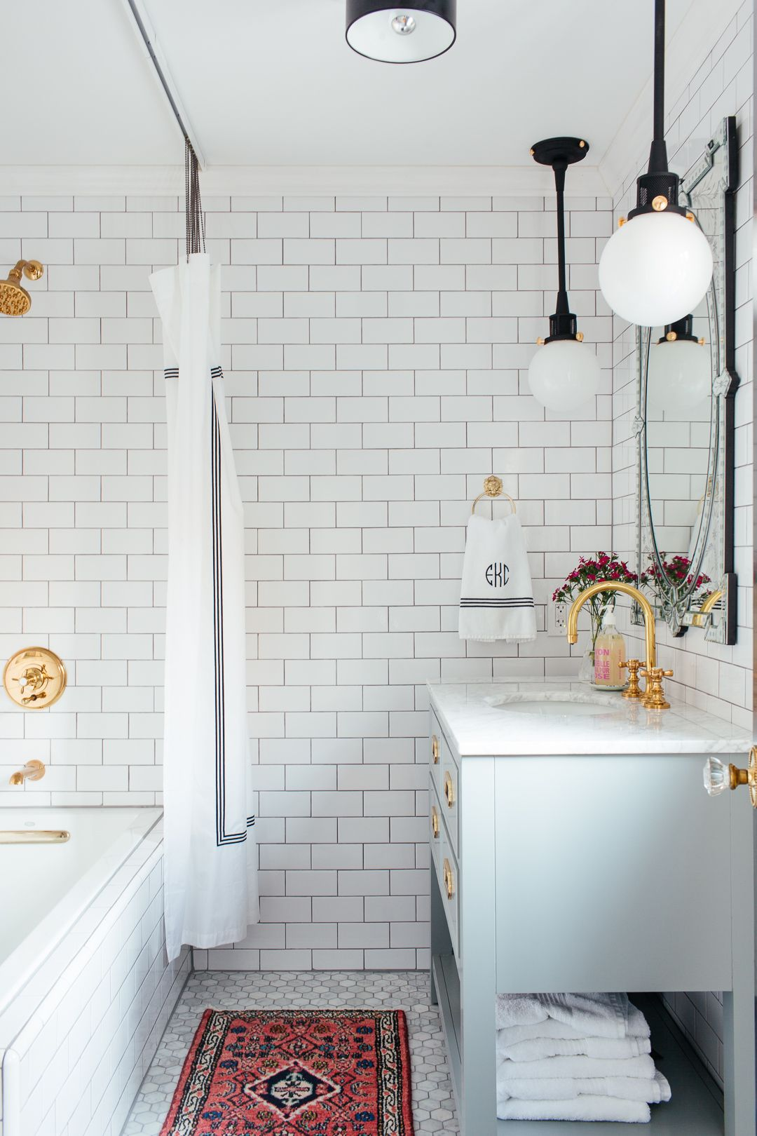 One Room Challenge Guest Bathroom The Reveal Erin Kestenbaum Eclectic Bathroom Guest Bathroom Bathrooms Remodel