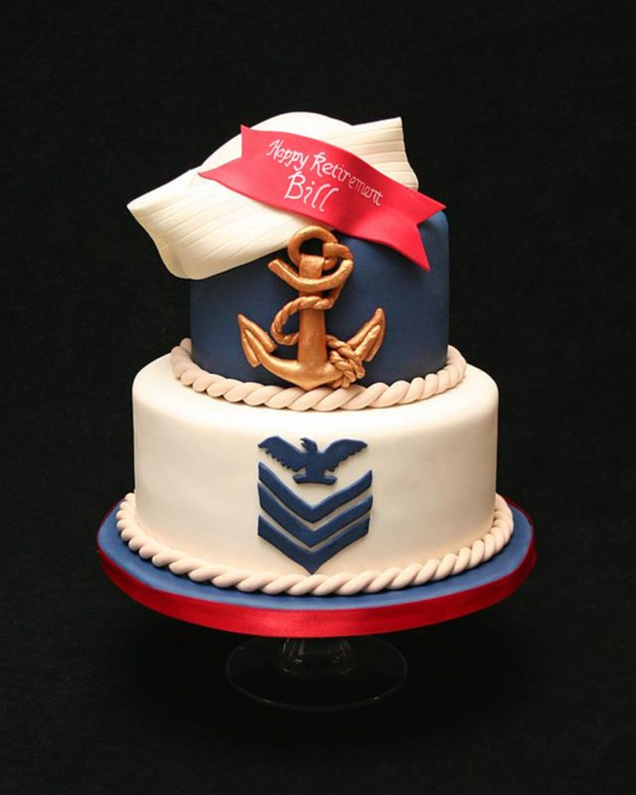 Navy Retirement Hard To Tell But Thats A Sailor Hat On Top