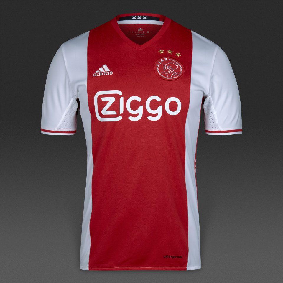 adidas Ajax 16/17 Home Shirt - White/Bold Red