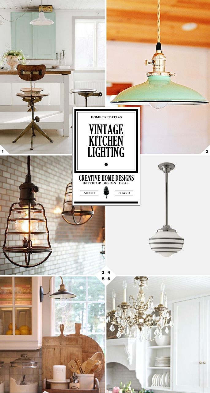 Vintage Kitchen Lighting Ideas From School House To Chandeliers