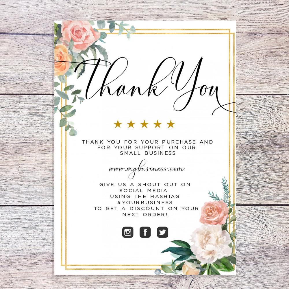 Boho Thank You Card Template Editable Template Printable Etsy Thank You Card Template Thank You Cards Card Template