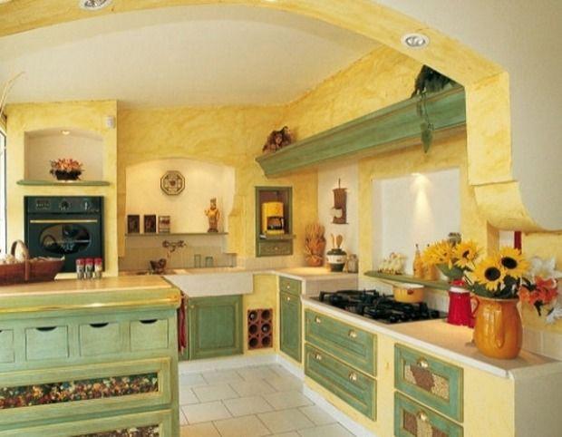 Gallery of pareti cucina provenzali materiali colori e decorazioni ...
