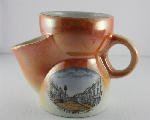 Antique Gho Bavaria Shaving Scuttle Mug Orange Lustreware Main St Clara Ireland Ebay Mugs Shaving Scuttle Vintage Shaving