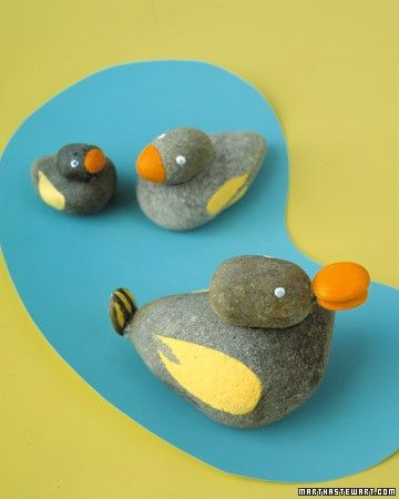 Rock Animals - With rocks, glue, and paint, kids can create a collection of all their favorite animals.