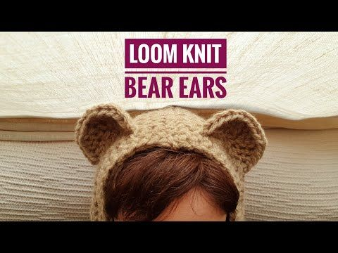 How to Loom Knit Bear Ears (DIY Tutorial) #loomknitting