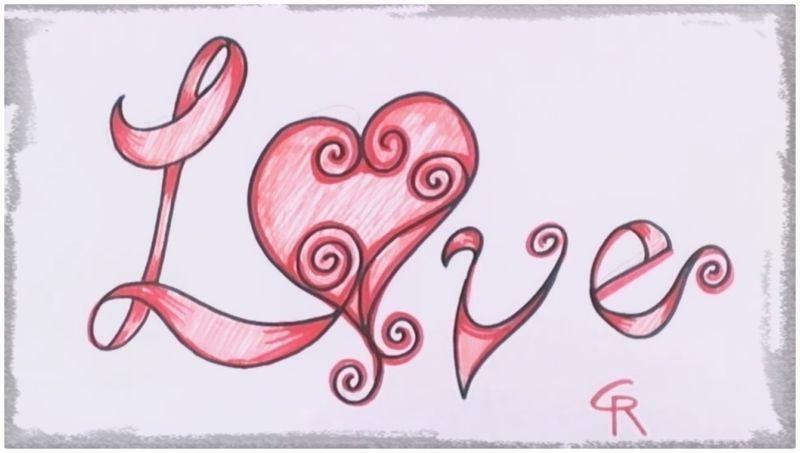 Imagenes De Corazones Para Dibujar A Lapiz Faciles Corazones