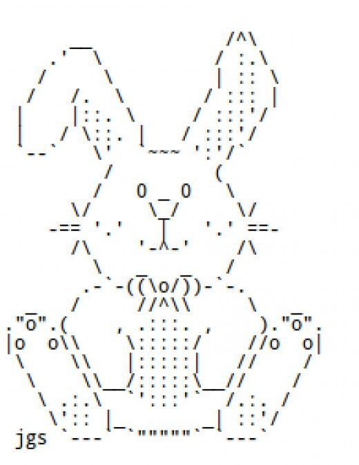 These are a collection of ASCII art Easter bunnies and regular
