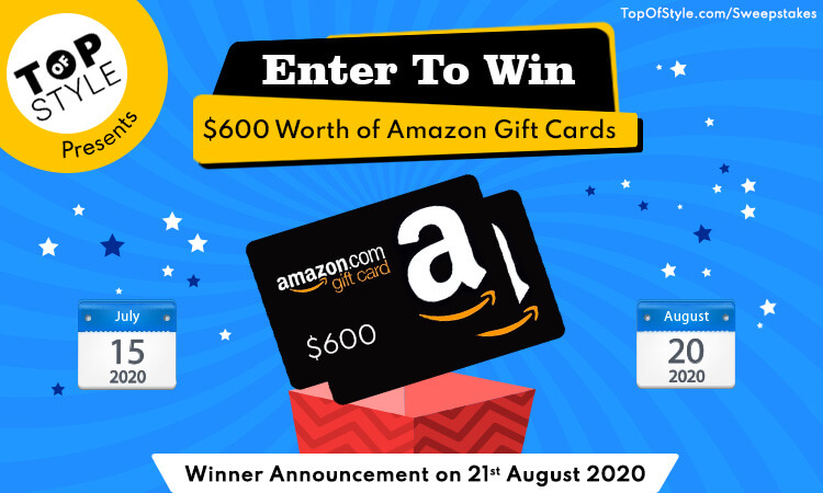 Enter To Win 600 Amazon Gift Cards Sweeptakes With Topofstyle Fashion Top Collection From Fashion Amazon Gift Card Free Amazon Gift Cards Gift Card Giveaway
