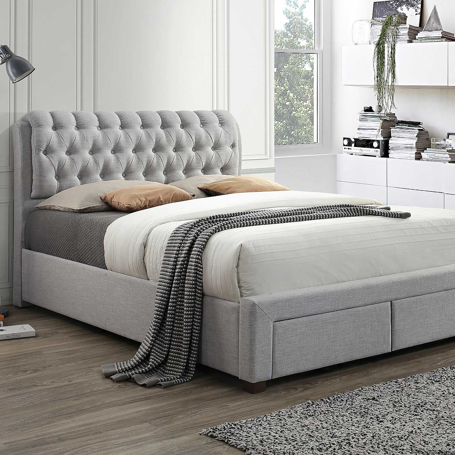 Valentino Deluxe Upholstered 2 Drawer Bed Frame by Birlea