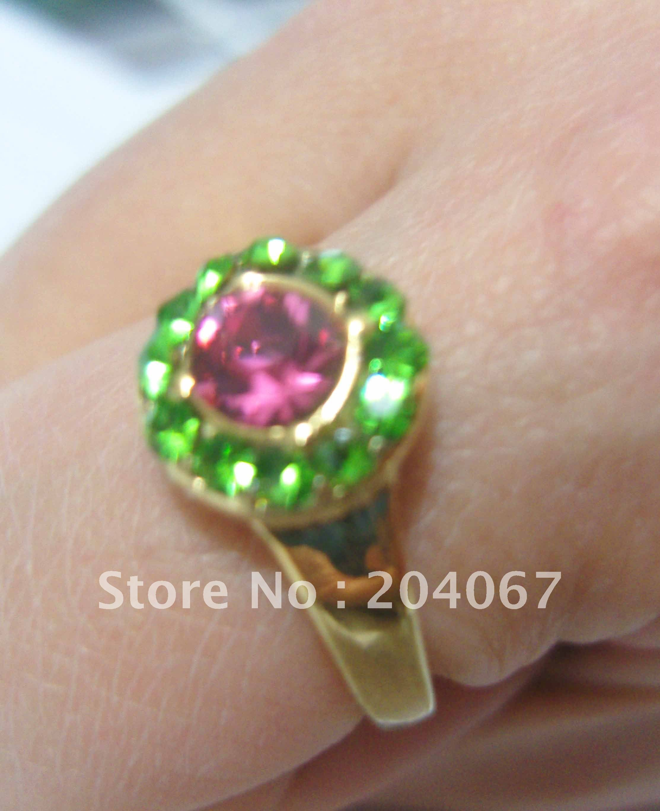 Real gold 18k ring plated for men size 9 jewlery dimond new
