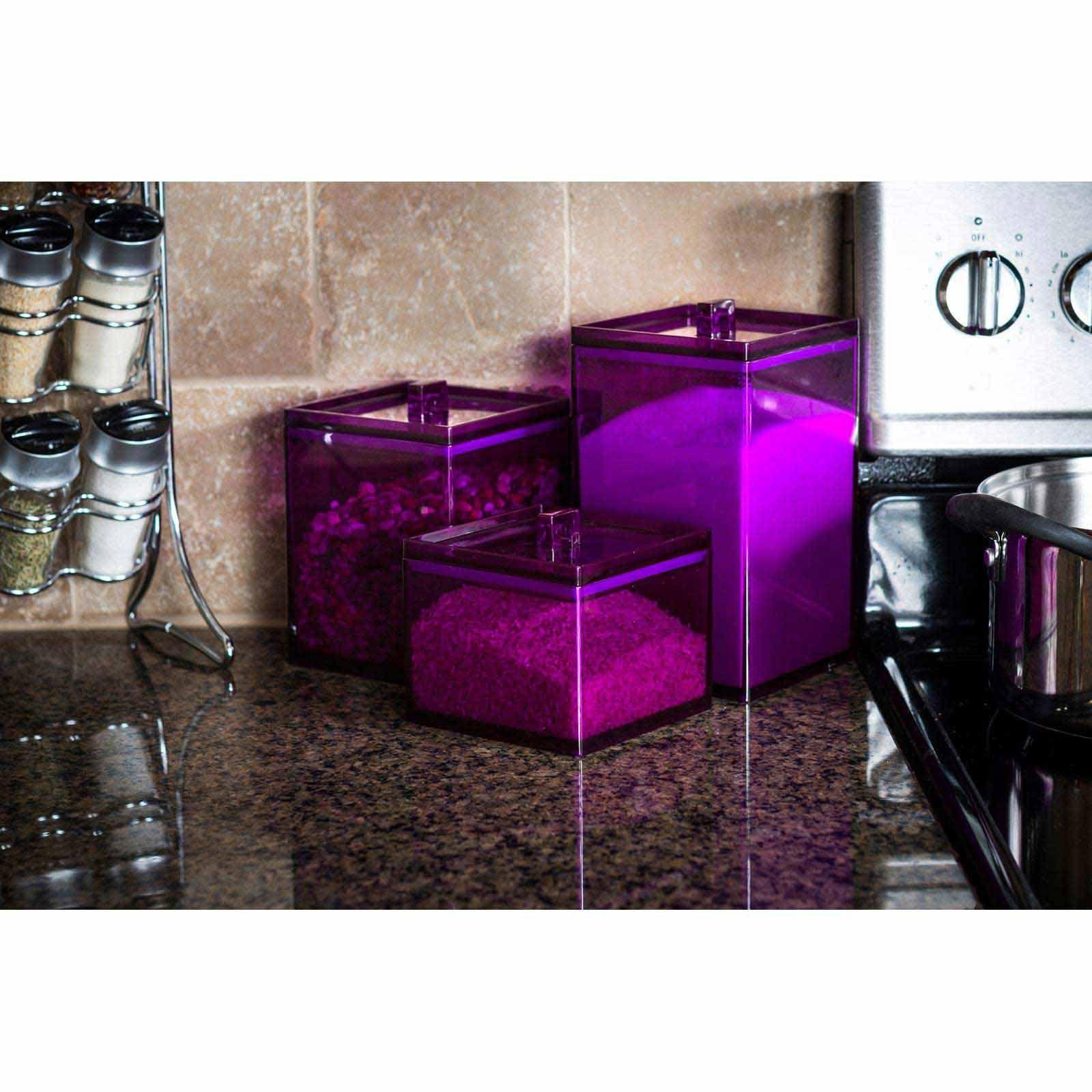 Meeme 3 Piece Stackable Kitchen Canister Set   Kitchen Organization