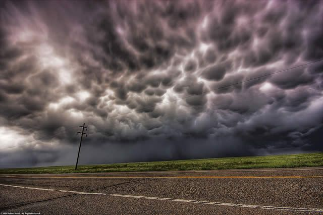 Mammatus Clouds – Between Limon and Colorado