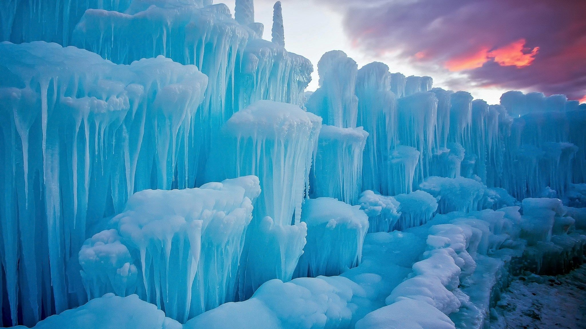 Ледяные скалы снежное царство зимы картинки