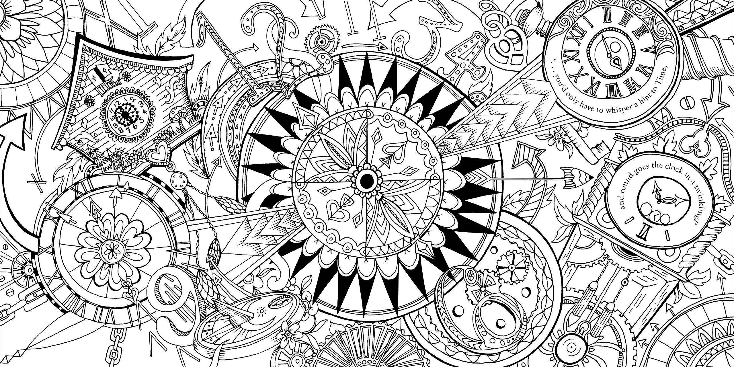 Escape To Wonderland A Colouring Book Adventure Good Wives And