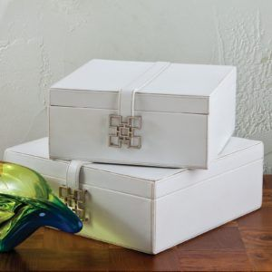 White Leather Look Storage Boxes & White Leather Look Storage Boxes | http://usdomainhosting.us ...