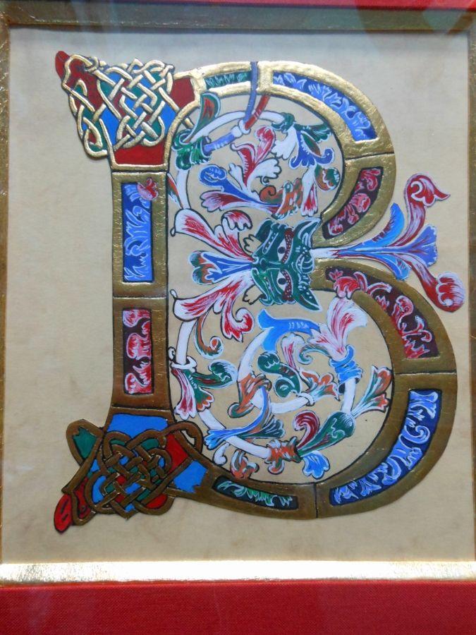 Illuminated Letter B Illuminated letter b | illumination | Písmo