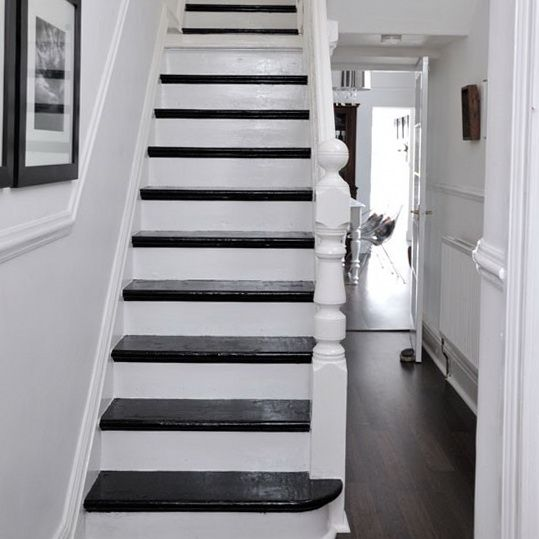 Paint the doors leading from your hallway a bright colour for Hall and stairs ideas