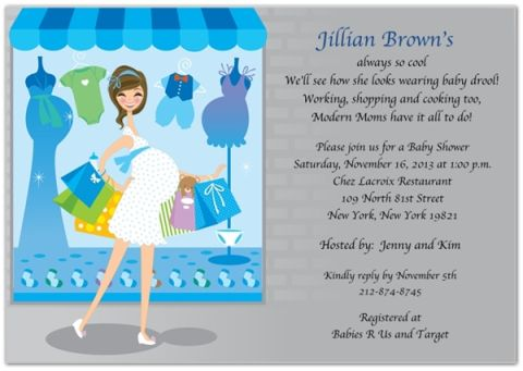 Shop Until You Drop Baby Shower Invitation Baby Shower Invitation