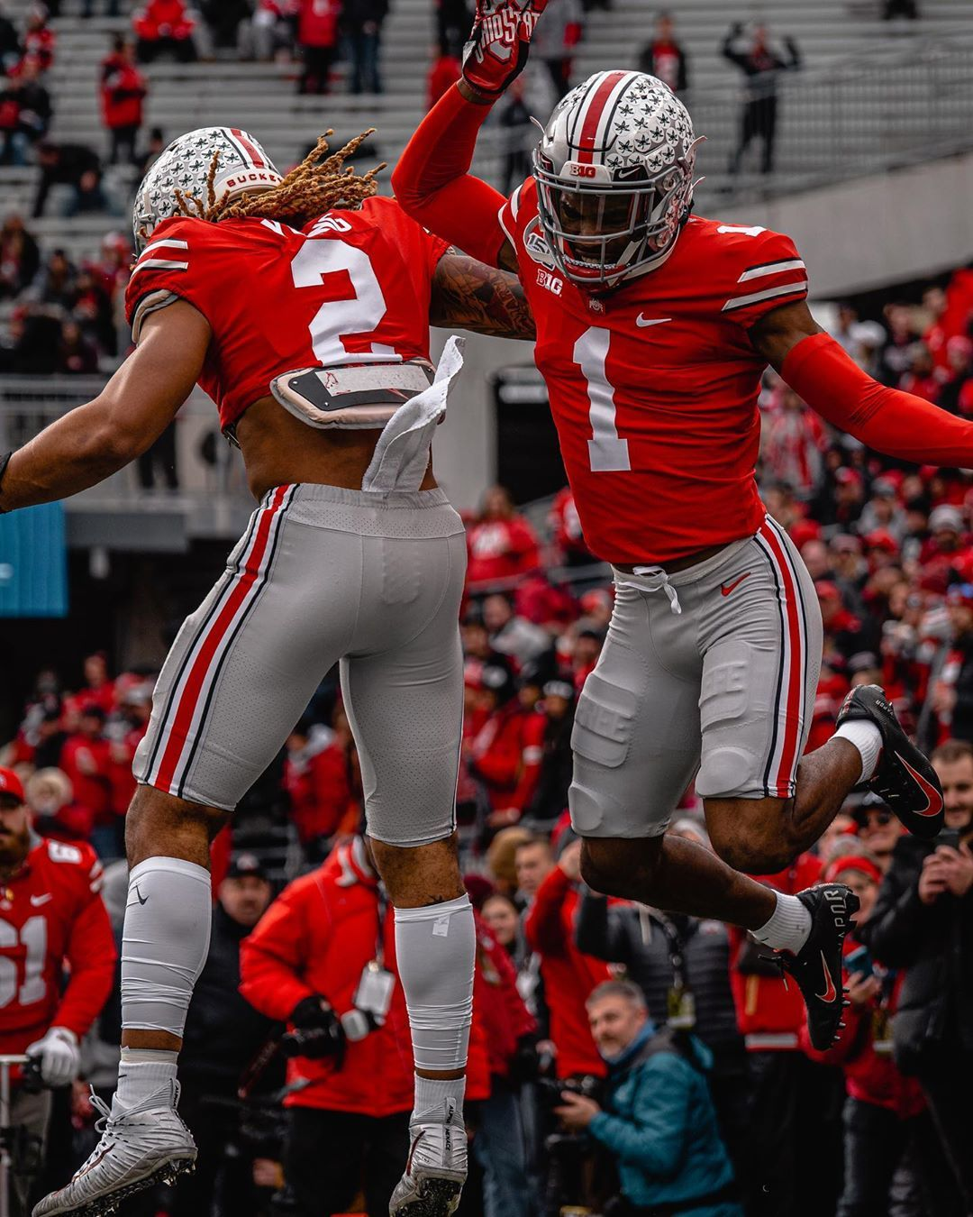 The Ohio State Football On Instagram Brothers Gobucks Toughlove Ohio State Football Ohio State Football Uniforms