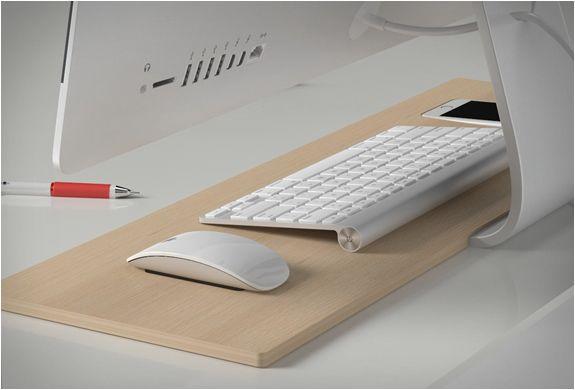 Centrawin en bois support pour clavier sans fil bluetooth apple