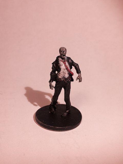 Season 1 Walker Zombie - Suit - Painted black suit & red tie