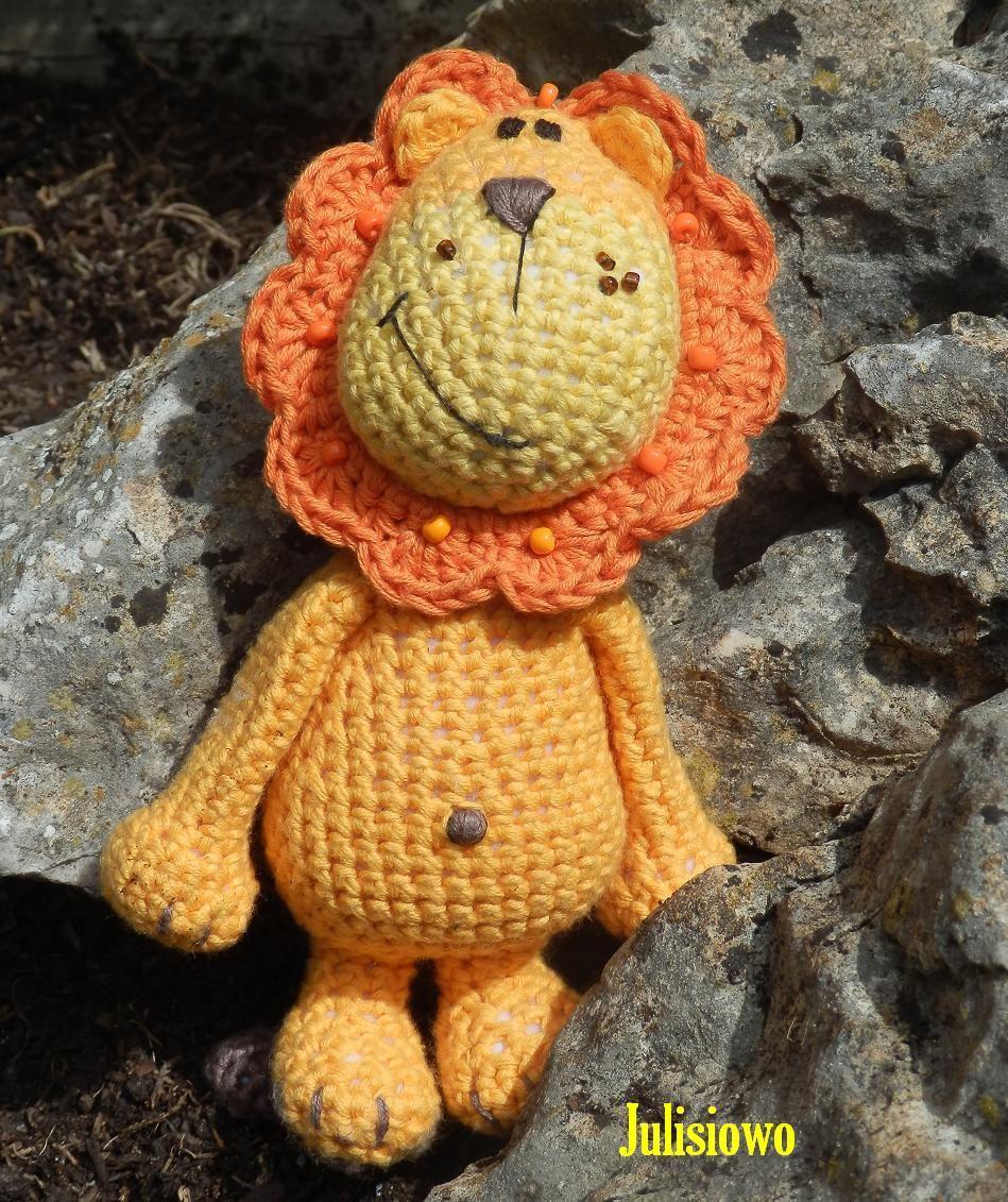 crochet lion, león de ganchillo, szydelkowy lew https://www.etsy.com ...