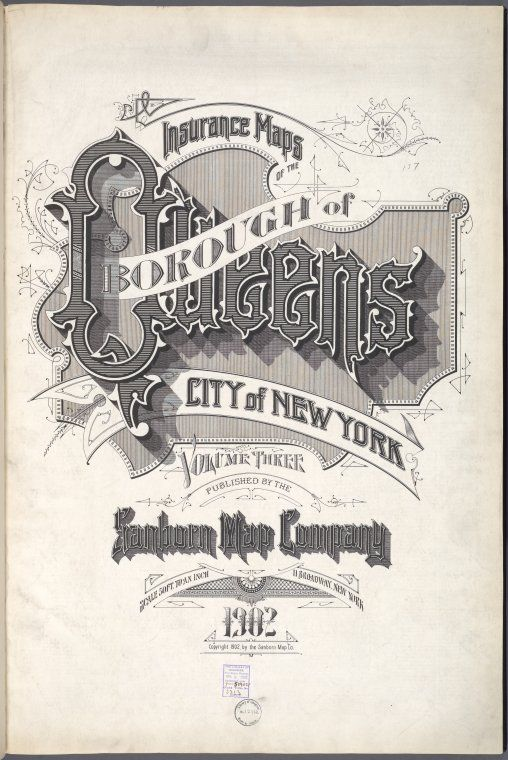 Insurance Maps Of The Borough Of Queens City Of New York Volume