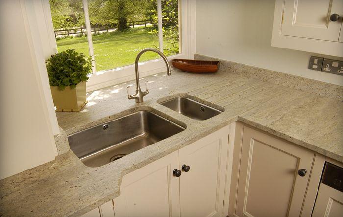 Pale granite worktops run into the windows   sleek kitchens   Kitchen, Country kitchen, Kitchen ...