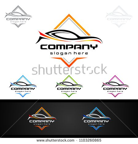 Auto Car Logo For Sport Cars Rent Wash Or Mechanic Car Logo