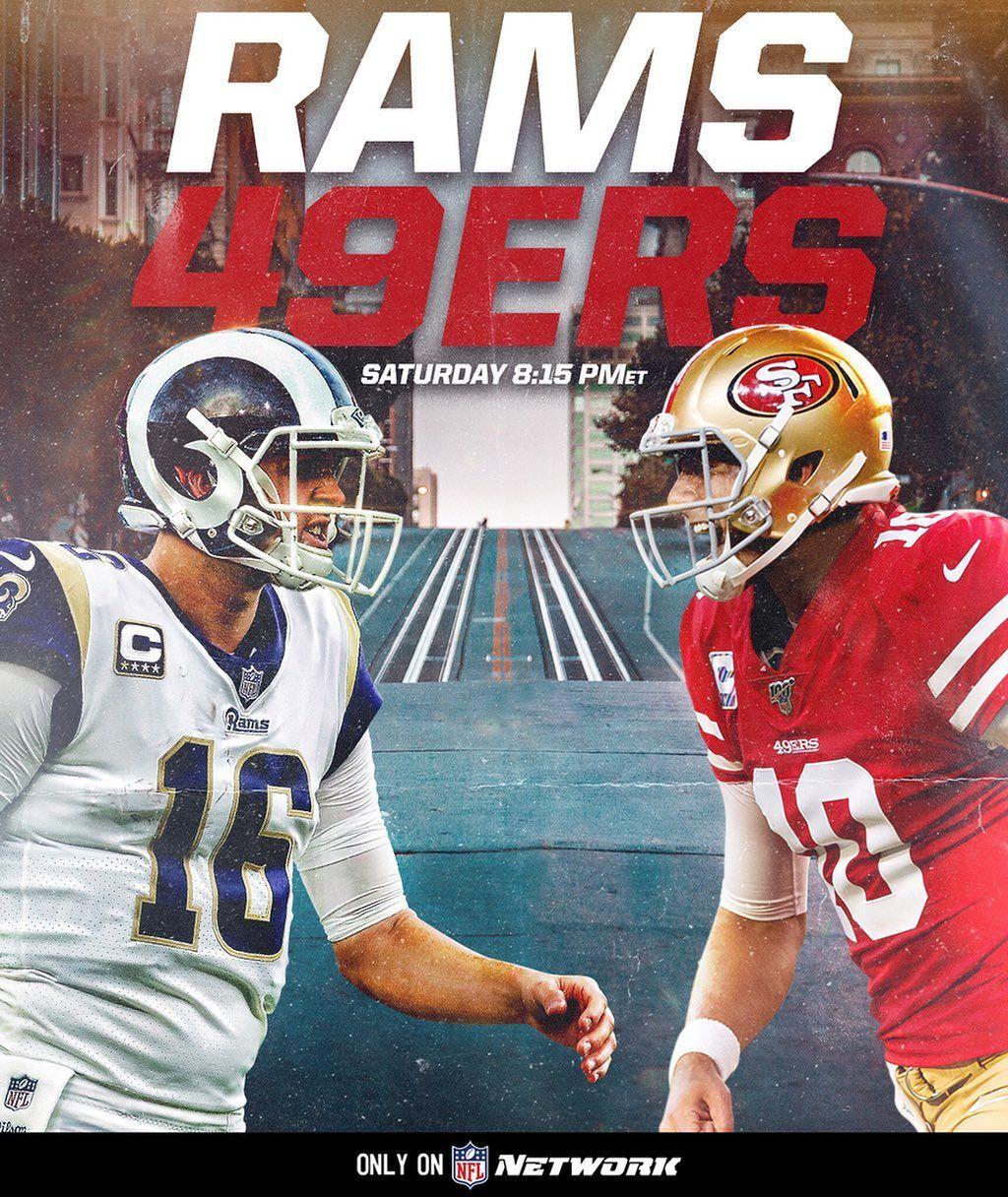 Nfl Los Angeles Rams San Francisco 49ers A Nightcap In The Bay Larvssf Saturda Big4 Bigf Los Angeles Rams Nfl Los Angeles San Francisco 49ers