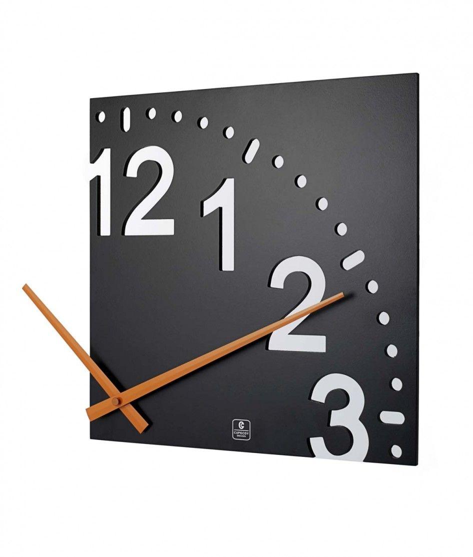 decoration unusual gift unique creative wall clock home decor ideas black colour frame wooden hour hands