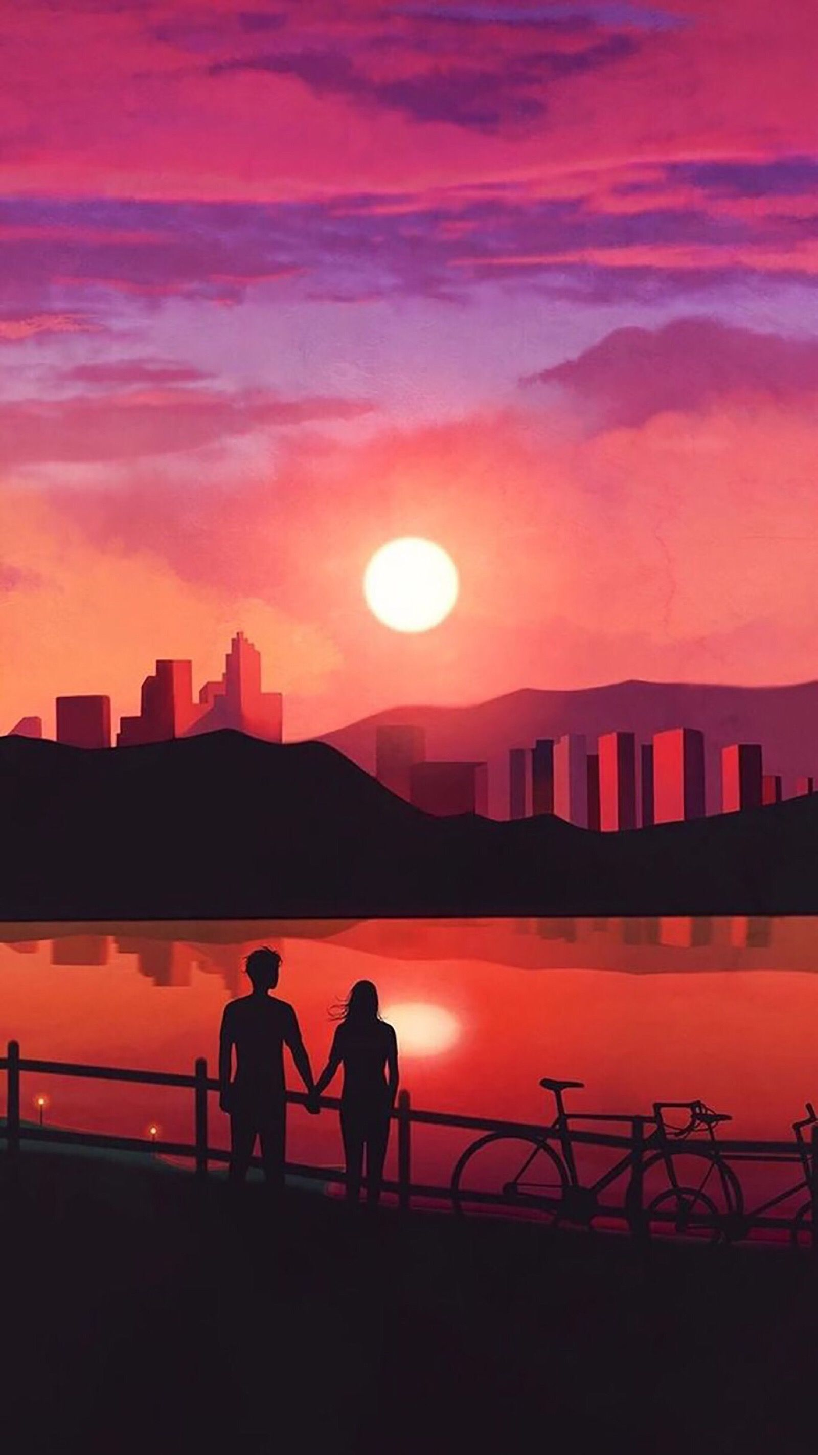 Love Alone Aesthetic Art Anime Scenery Cute Couple Drawings