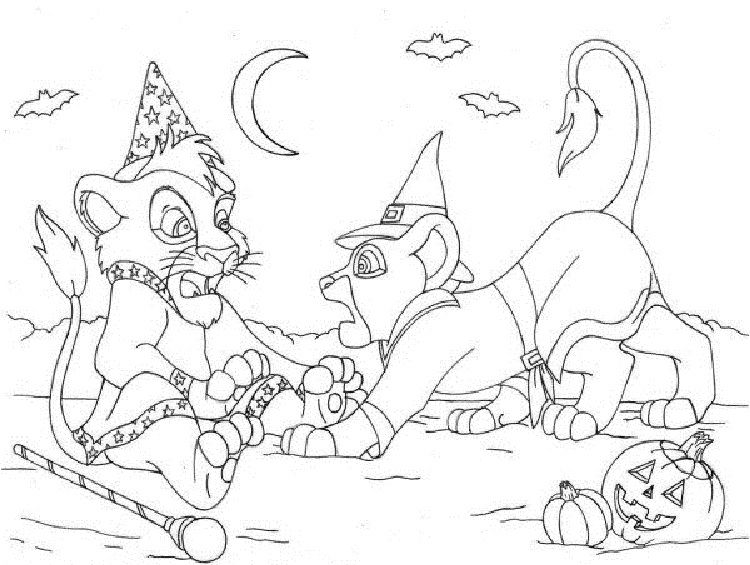 lion king halloween coloring pages   Coloring Pages For ...