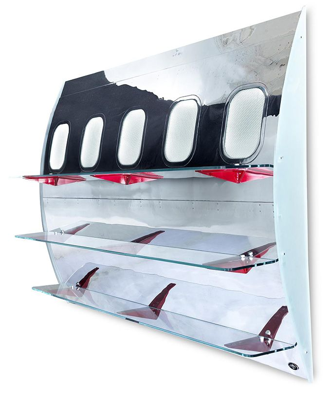 Wall mounted fuselage book shelf can i say ummmm yes - What did the wall say to the bookcase ...