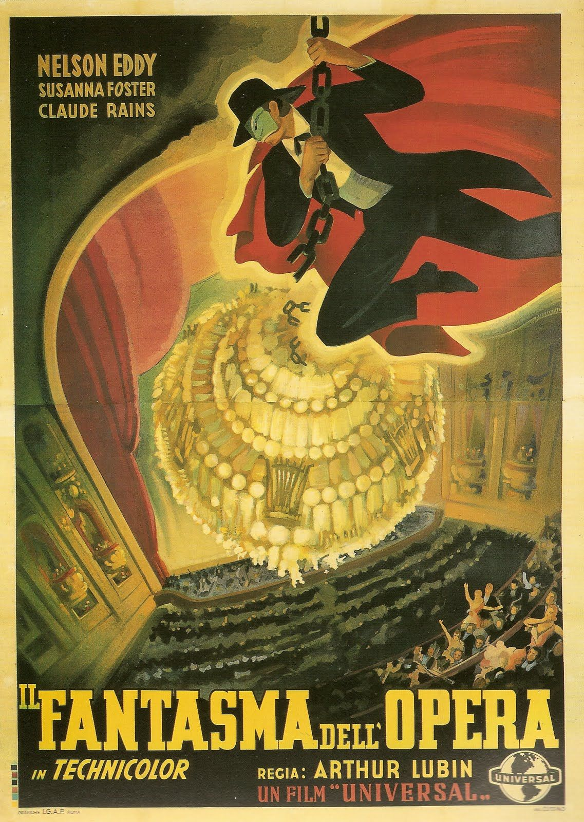 The Phantom of the Opera Reproduction poster old Movie advertising Wall art.