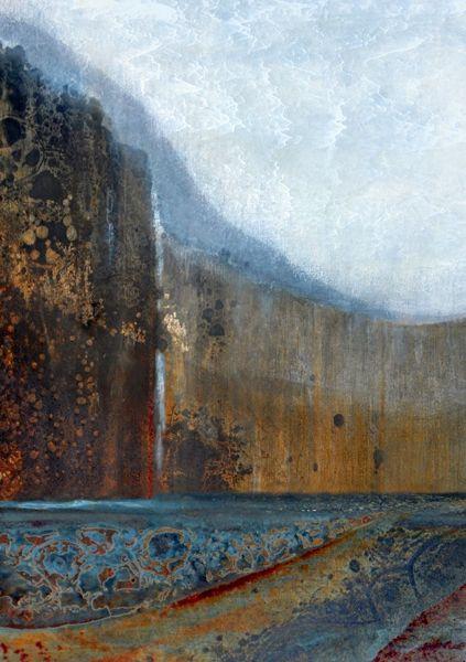 "'Multnomah Falls II', Pigment Ink On Archival Fine Art Paper.  36"" x 24"", other sizes available. © 2015 LuAnn Ostergaard. www.LuAnnOstergaard.com."