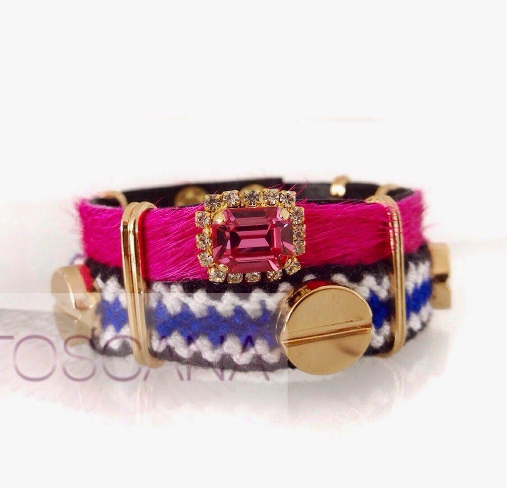 Chocolate con Diamantes: Me tienen fascinada los bolsos y pulseras de Toscana #bracelet