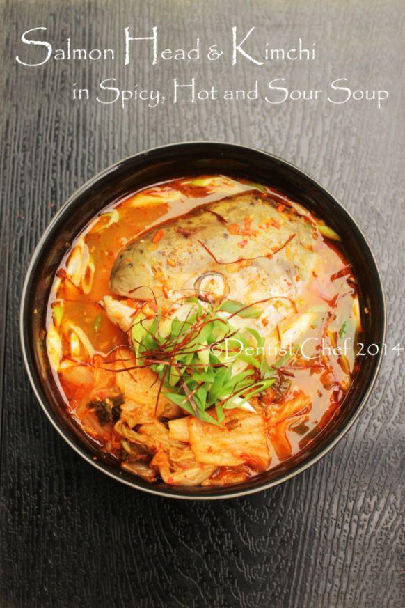 Recipe Maeuntang Korean Salmon Head With Kimchi Soup In Spicy Sour Chili Broth Resep Masakan Pedas Resep Sup Resep Makanan