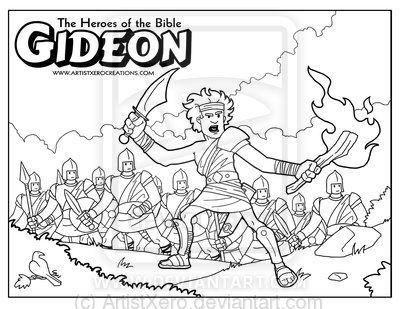 Free Printable Bible Coloring Page Of Gideon