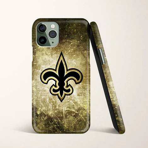 New Orleans Saints Vintage Brush Wallpapers iPhone 11 Pro Max Case   Casacases