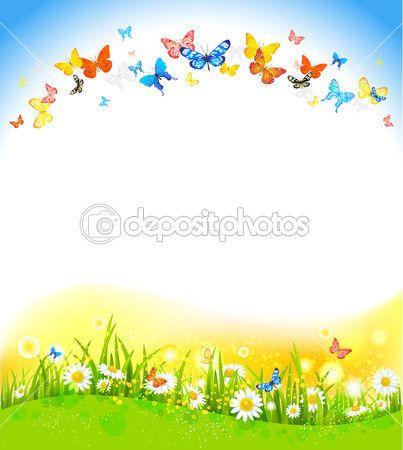 arka plan ile kelebekler — Stok İllüstrasyon #28793049