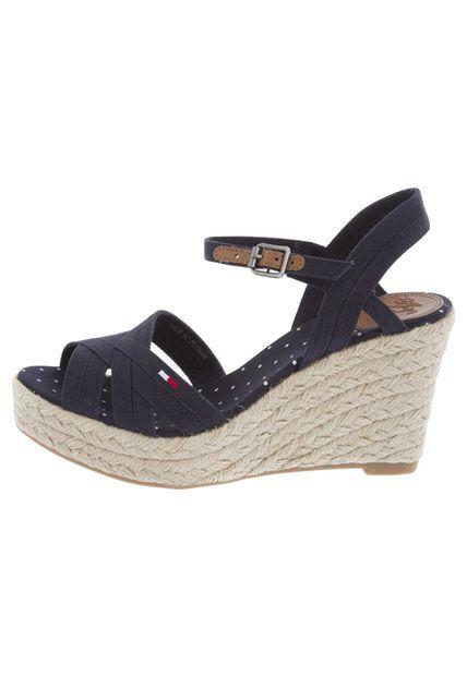 0b7162cbd30 Sandalia Plataforma Tommy Hilfiger Azul Oscuro | Shoes | Sandalias ...