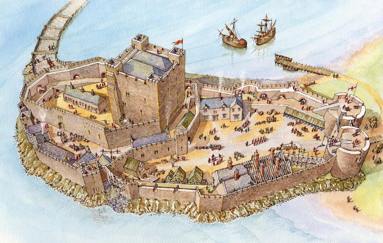 Carrick Castle - by the mid 16th century