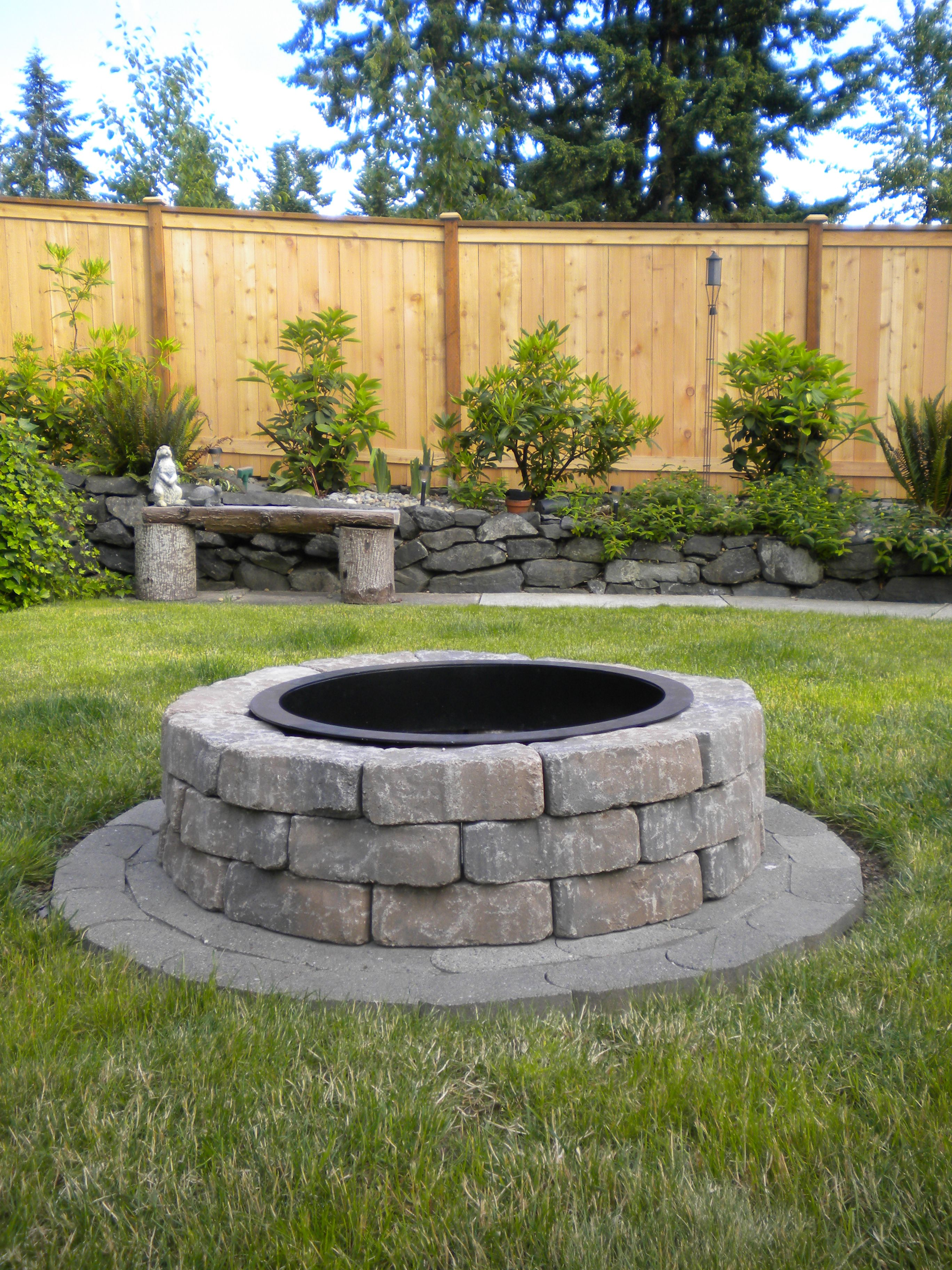 Fire Pit Done Fire Pit Landscaping Fire Pit On Grass Outdoor Fire Pit