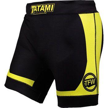 Tatami Flex Vale Tudo Shorts Yellow Black Vale Tudo Shorts Gym Men Mens Gym Short