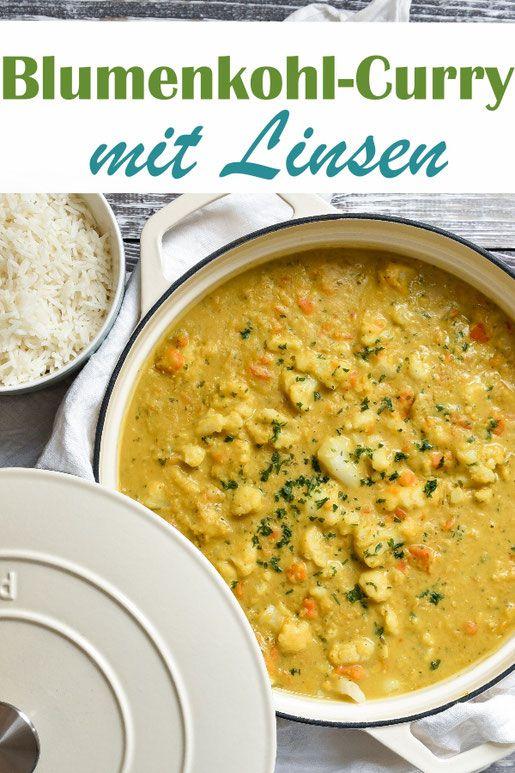 Blumenkohl-Curry. Mit Linsen.