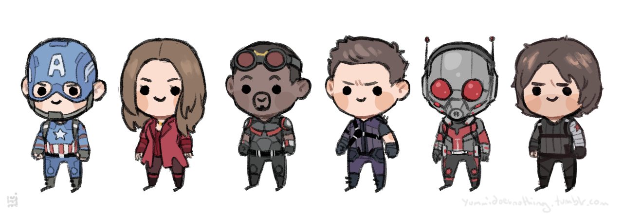 Mostly marvel! especailly Seb!  -First of all: you mean Bucky. Second of all: I just love how Clint and Bucky look exactly the same when you look at the faces! It's like Playmobil or Lego