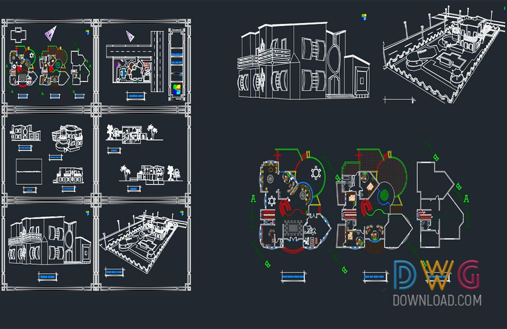 Luxury Villa Dwg Project 2. And about villa details dwg